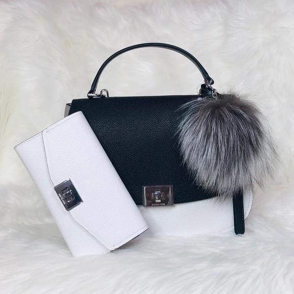 Michael Kors Handbags - 3PCS Michael Kors Cassie TH Satchel Wallet Charms